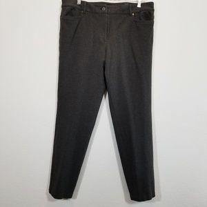 TALBOTS Womens Gray Stretch Dress Pants